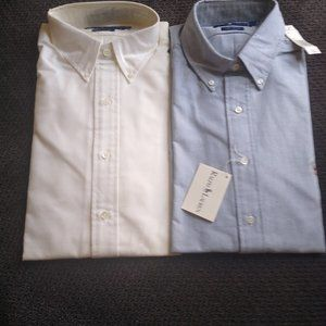Two Ralph Lauren Classic Button Down Shirts